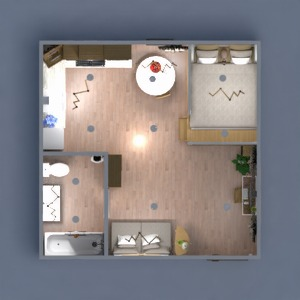 floorplans wystrój wnętrz mieszkanie typu studio 3d