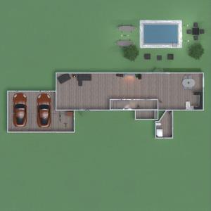floorplans house garage kitchen outdoor 3d