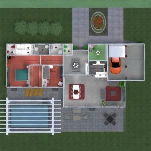 floorplans butas namas terasa baldai vonia miegamasis svetainė garažas virtuvė eksterjeras vaikų kambarys biuras valgomasis аrchitektūra prieškambaris 3d