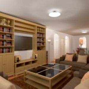 floorplans wohnung mobiliar dekor badezimmer schlafzimmer wohnzimmer küche beleuchtung esszimmer lagerraum, abstellraum eingang 3d