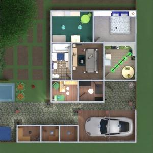 floorplans dom meble łazienka sypialnia pokój dzienny kuchnia pokój diecięcy 3d