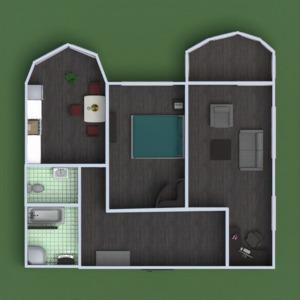 floorplans apartamento muebles cuarto de baño dormitorio salón cocina despacho comedor descansillo 3d