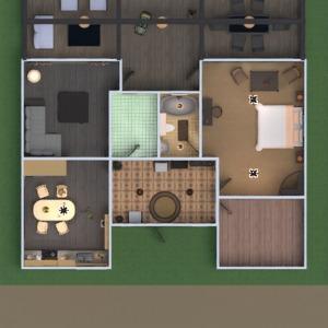floorplans namas terasa baldai vonia miegamasis virtuvė apšvietimas renovacija 3d
