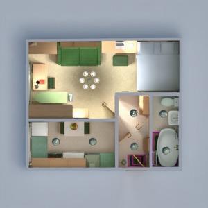 floorplans apartment furniture decor bathroom bedroom living room kitchen lighting household storage entryway 3d