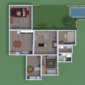floorplans house kitchen dining room 3d