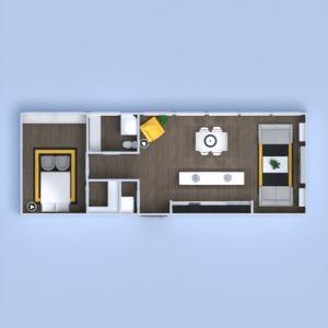 планировки квартира декор гостиная кухня освещение 3d