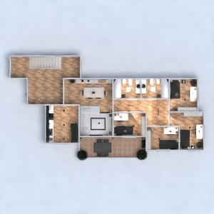 floorplans appartement terrasse meubles décoration salle de bains chambre à coucher salon cuisine eclairage maison salle à manger 3d
