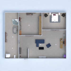 floorplans bedroom studio 3d
