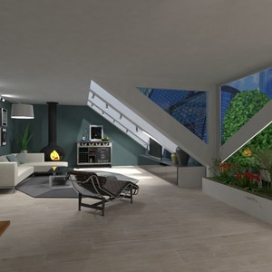 floorplans apartment terrace living room outdoor 3d