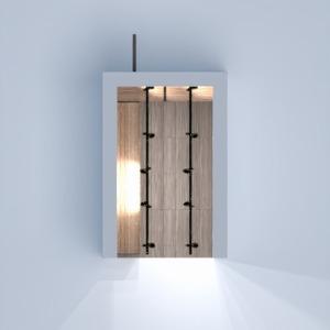 планировки мебель декор хранение прихожая 3d