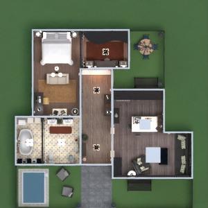 floorplans namas baldai dekoras pasidaryk pats vonia miegamasis svetainė virtuvė eksterjeras apšvietimas namų apyvoka 3d