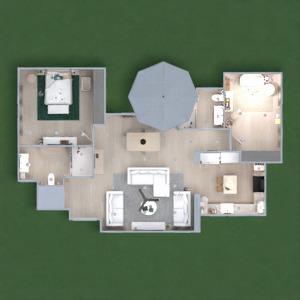 floorplans maison diy salle de bains chambre à coucher 3d