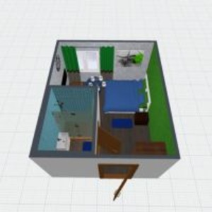 planos bricolaje dormitorio salón 3d