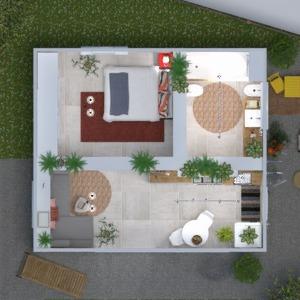 floorplans appartement diy salle de bains chambre à coucher cuisine 3d