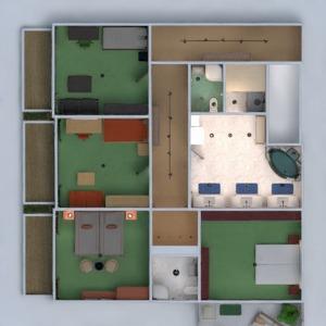 planos apartamento casa terraza muebles cuarto de baño dormitorio salón garaje cocina exterior habitación infantil iluminación comedor arquitectura descansillo 3d