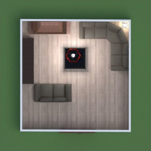 floorplans baldai dekoras svetainė prieškambaris 3d