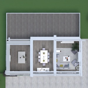 floorplans house terrace furniture decor living room kitchen lighting renovation household dining room 3d