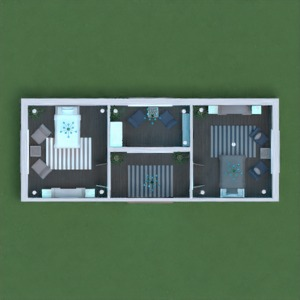 floorplans house bedroom lighting 3d