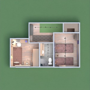 floorplans house living room kitchen 3d