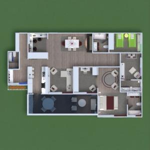 floorplans butas terasa baldai dekoras vonia miegamasis svetainė virtuvė vaikų kambarys biuras apšvietimas namų apyvoka valgomasis аrchitektūra sandėliukas prieškambaris 3d