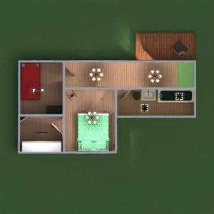 floorplans namas baldai vonia miegamasis svetainė virtuvė apšvietimas valgomasis prieškambaris 3d