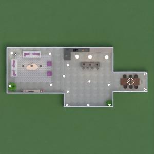 floorplans pokój dzienny kuchnia jadalnia 3d