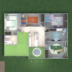 planos casa exterior paisaje arquitectura 3d