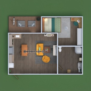 floorplans apartment furniture bedroom 3d
