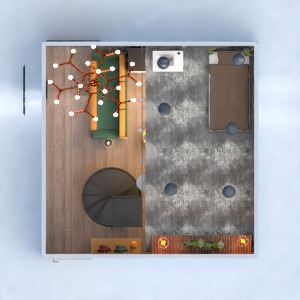 planos dormitorio salón cocina 3d