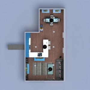 planos apartamento muebles decoración salón cocina 3d