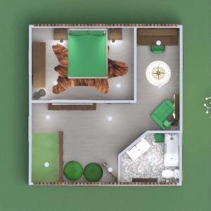 floorplans namas svetainė virtuvė biuras apšvietimas 3d
