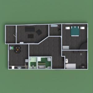 floorplans apartamento muebles cuarto de baño dormitorio salón cocina habitación infantil descansillo 3d