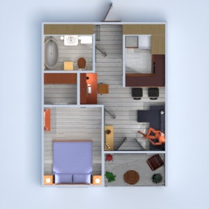 floorplans apartment terrace furniture decor bathroom 3d