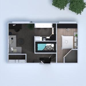 floorplans butas vonia miegamasis svetainė virtuvė renovacija sandėliukas prieškambaris 3d