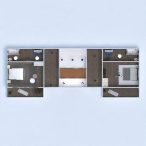 floorplans wohnung haus terrasse mobiliar dekor badezimmer schlafzimmer garage küche beleuchtung eingang 3d