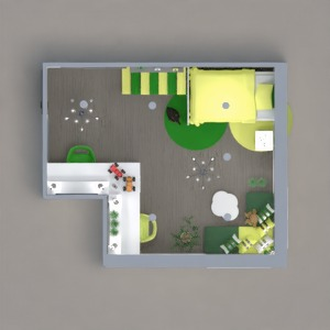 floorplans miegamasis svetainė biuras 3d