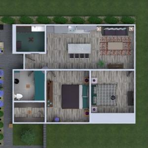 floorplans mieszkanie dom taras meble wystrój wnętrz 3d
