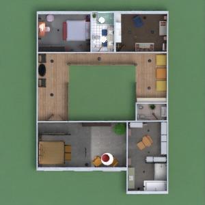 planos casa terraza muebles decoración habitación infantil 3d