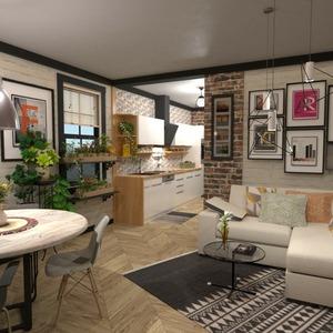 floorplans butas baldai dekoras apšvietimas 3d