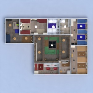 floorplans apartment furniture decor bedroom living room lighting household studio entryway 3d