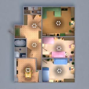 floorplans mieszkanie meble wystrój wnętrz łazienka sypialnia pokój dzienny kuchnia pokój diecięcy oświetlenie remont jadalnia wejście 3d