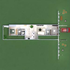 floorplans house furniture bedroom outdoor lighting architecture 3d