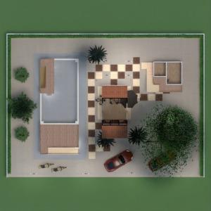 floorplans maison terrasse meubles paysage architecture 3d