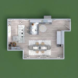 floorplans apartment furniture living room kitchen lighting renovation dining room 3d