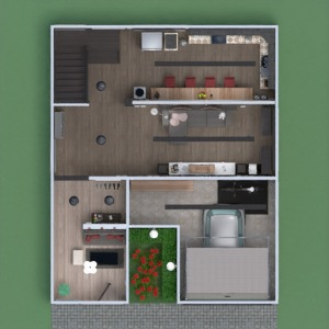 floorplans house terrace furniture bathroom bedroom living room garage kitchen lighting dining room 3d