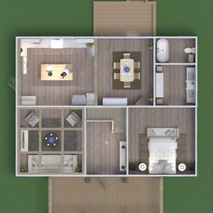 floorplans maison salle de bains chambre à coucher salon architecture 3d