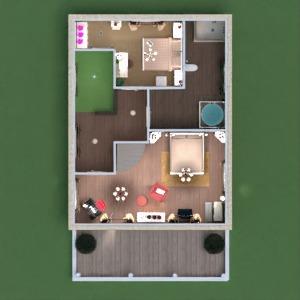 floorplans casa varanda inferior mobílias decoração banheiro quarto quarto garagem cozinha quarto infantil iluminação paisagismo sala de jantar patamar 3d