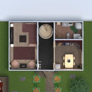 floorplans house terrace furniture decor bathroom bedroom living room kitchen 3d