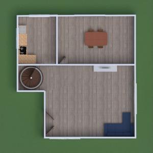 floorplans quarto infantil sala de jantar arquitetura 3d