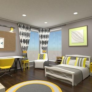 planos decoración dormitorio habitación infantil iluminación 3d